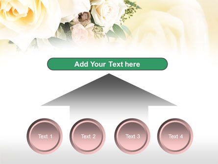 Tea Roses Wedding Bouquet PowerPoint Template Slide 8