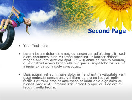 Tire Swing PowerPoint Template, Slide 2, 00731, People — PoweredTemplate.com