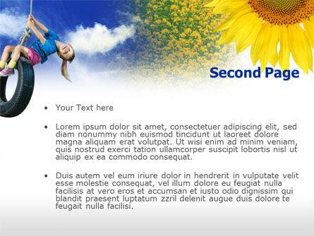 Tire Swing PowerPoint Template Slide 2