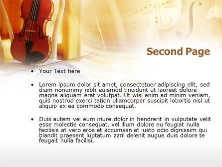 Fiddle PowerPoint Template Slide 2