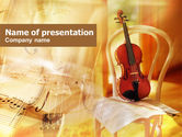 Art & Entertainment: Fiddle PowerPoint Template #00732