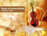 Art & Entertainment: Plantilla de PowerPoint - violín #00732