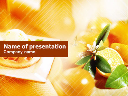 Food & Beverage: Templat PowerPoint Terang Oranye #00735