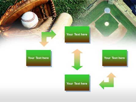 Bat and Glove PowerPoint Template, Slide 4, 00736, Sports — PoweredTemplate.com