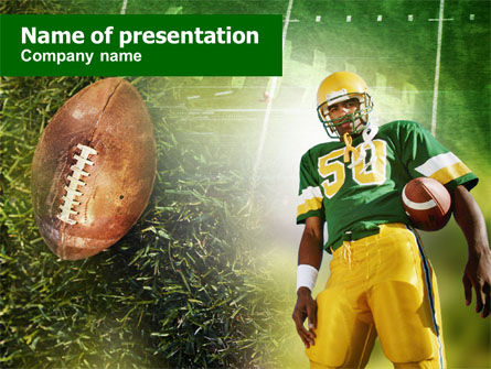 American Football Player PowerPoint Template, 00737, Sports — PoweredTemplate.com