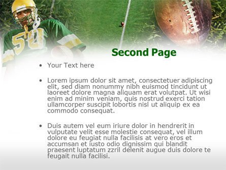 American Football Player PowerPoint Template, Slide 2, 00737, Sports — PoweredTemplate.com