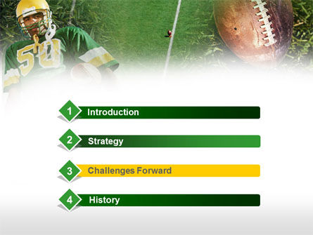 American Football Player PowerPoint Template, Slide 3, 00737, Sports — PoweredTemplate.com