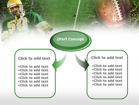 American Football Player PowerPoint Template, Slide 4, 00737, Sports — PoweredTemplate.com