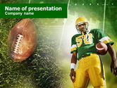 Sports: American Football Player PowerPoint Template #00737