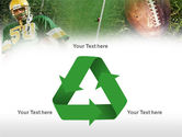 American Football Player PowerPoint Template#10
