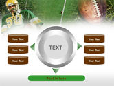 American Football Player PowerPoint Template#12