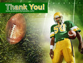 American Football Player PowerPoint Template#20