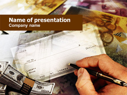 Check Signing PowerPoint Template