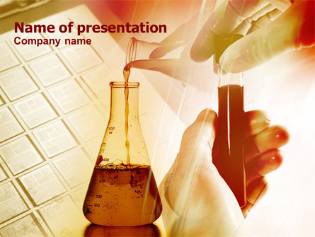 Chemical Testing PowerPoint Template, 00740, Technology and Science — PoweredTemplate.com