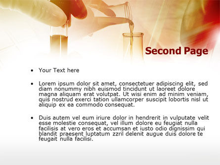 Chemical Testing PowerPoint Template, Slide 2, 00740, Technology and Science — PoweredTemplate.com