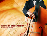 Art & Entertainment: Double Bass PowerPoint Template #00741