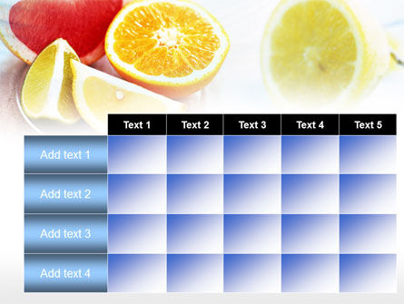 Citrus Segments PowerPoint Template Slide 15