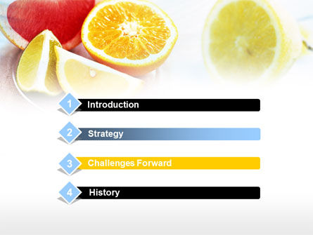 Citrus Segments PowerPoint Template, Slide 3, 00742, Food & Beverage — PoweredTemplate.com