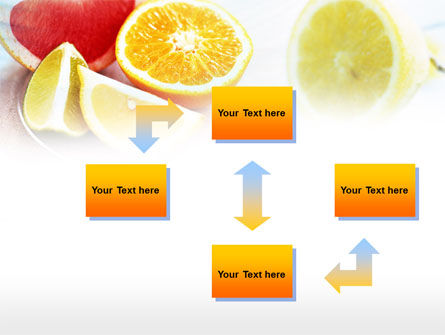 Citrus Segments PowerPoint Template, Slide 4, 00742, Food & Beverage — PoweredTemplate.com