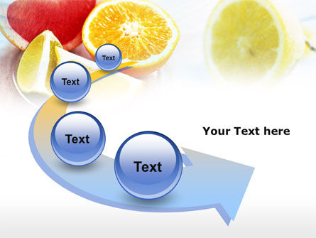 Citrus Segments PowerPoint Template Slide 6