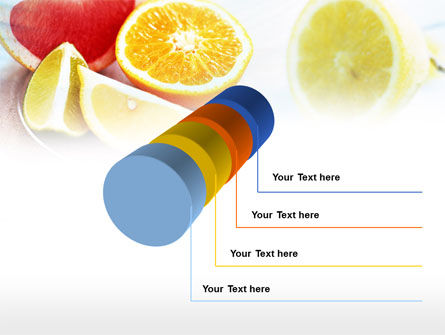 Citrus Segments PowerPoint Template Slide 7