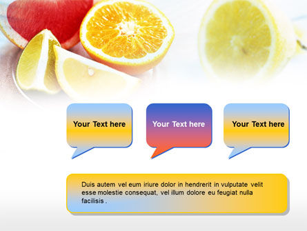 Citrus Segments PowerPoint Template Slide 9