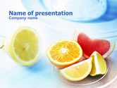 Food & Beverage: Citrus Segments PowerPoint Template #00742