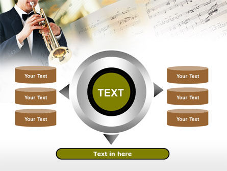 Trumpet In A Symphony Orchestra PowerPoint Template Slide 12