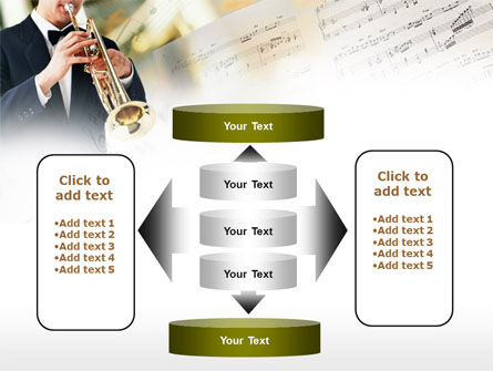 Trumpet In A Symphony Orchestra PowerPoint Template Slide 13