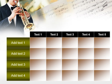 Trumpet In A Symphony Orchestra PowerPoint Template Slide 15