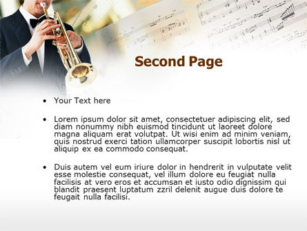 Trumpet In A Symphony Orchestra PowerPoint Template Slide 2