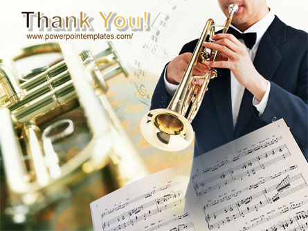 Trumpet In A Symphony Orchestra PowerPoint Template Slide 20