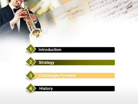 Trumpet In A Symphony Orchestra PowerPoint Template Slide 3