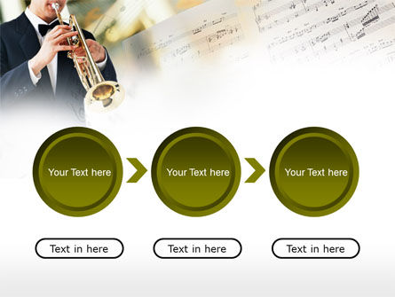 Trumpet In A Symphony Orchestra PowerPoint Template Slide 5