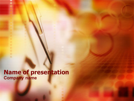 Abstract/Textures: Four O'Clock PowerPoint Template #00744