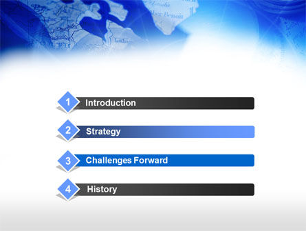 Compass On A Map PowerPoint Template Slide 3