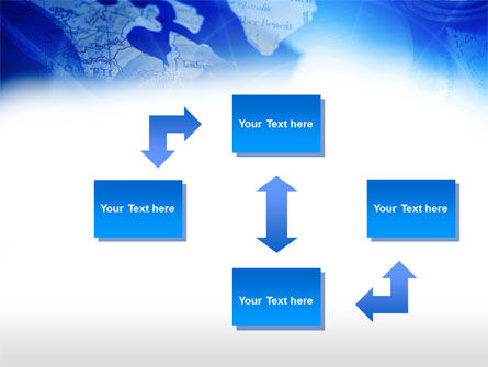 Compass On A Map PowerPoint Template Slide 4
