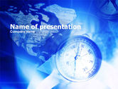 Compass On A Map PowerPoint Template#1
