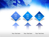 Compass On A Map PowerPoint Template#5