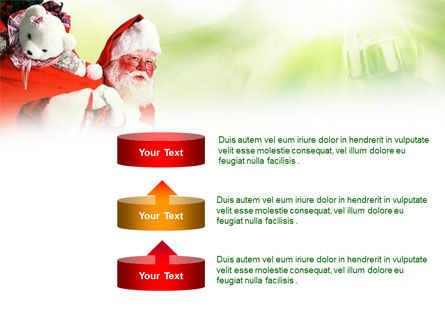 Santa Claus and Presents Bag PowerPoint Template Slide 10