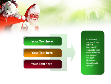 Santa Claus and Presents Bag PowerPoint Template Slide 11