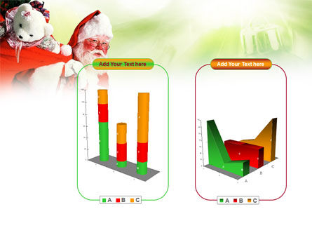 Santa Claus and Presents Bag PowerPoint Template Slide 13
