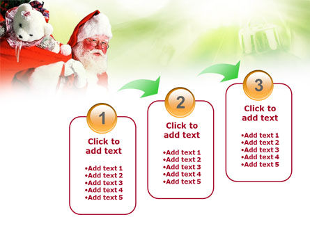 Santa Claus and Presents Bag PowerPoint Template Slide 14