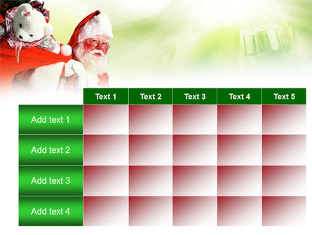 Santa Claus and Presents Bag PowerPoint Template Slide 15