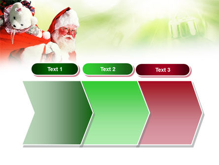 Santa Claus and Presents Bag PowerPoint Template Slide 16
