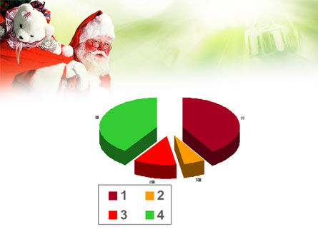 Santa Claus and Presents Bag PowerPoint Template Slide 17