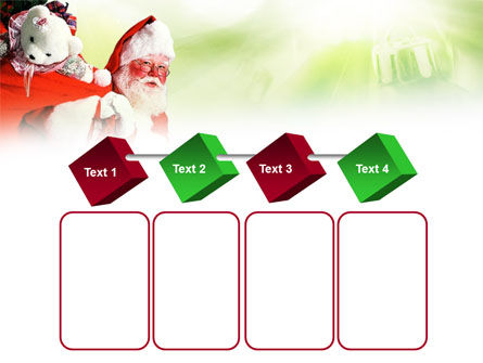 Santa Claus and Presents Bag PowerPoint Template Slide 18