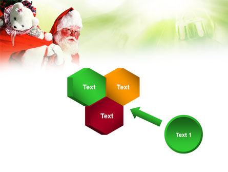 Santa Claus and Presents Bag PowerPoint Template Slide 19