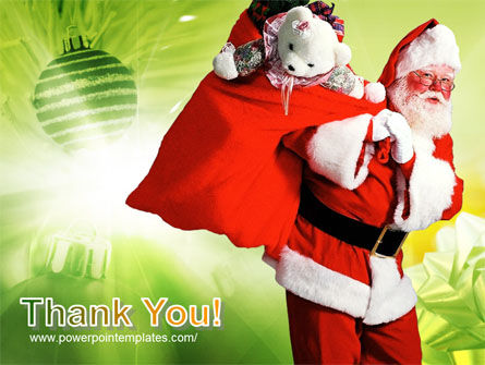 Santa Claus and Presents Bag PowerPoint Template Slide 20