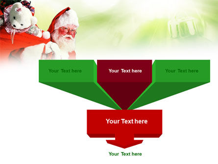 Santa Claus and Presents Bag PowerPoint Template, Slide 3, 00747, Holiday/Special Occasion — PoweredTemplate.com